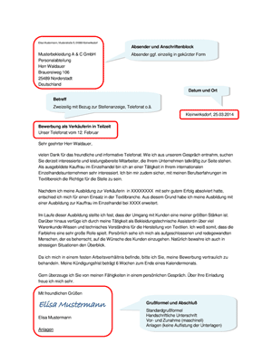 bewerbungsanschreiben - Bewerbung Schulsekretarin