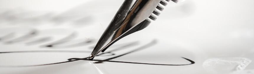Unterschrift im Lebenslauf und Anschreiben