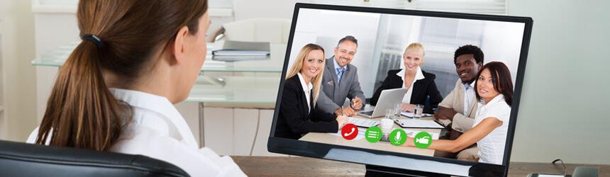 Vorstellungsgespräch per Skype Video Chat